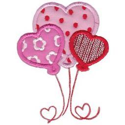Heart Balloons Applique