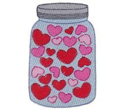 Hearts Mason Jar