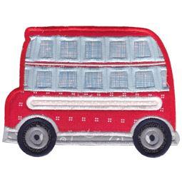 Double Decker Bus Applique