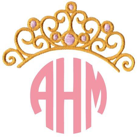 Princess Crown Monogram Topper