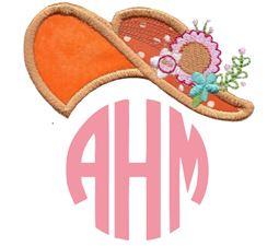 Southern Belle Hat Monogram Topper