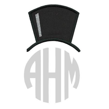 Top Hat Monogram Topper