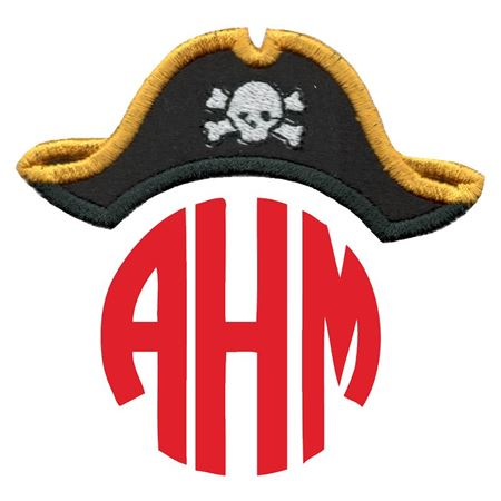 Pirate Hat Monogram Topper