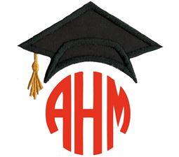 Graduation Cap Monogram Topper