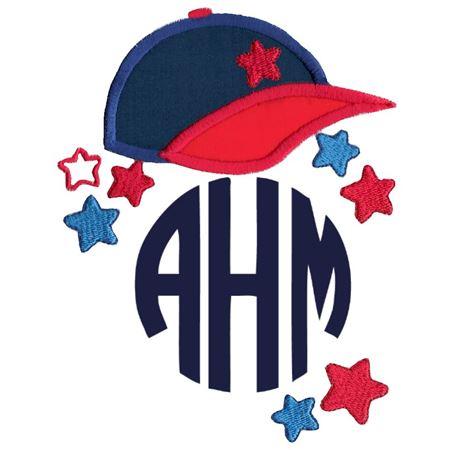 Baseball Cap Monogram Topper