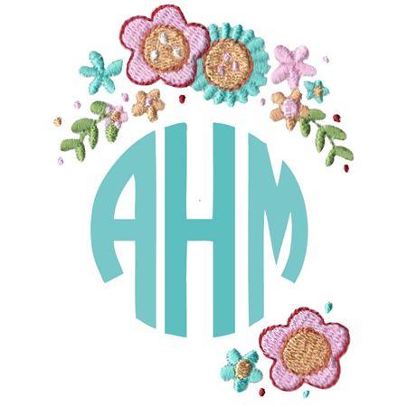 Floral Monogram Topper