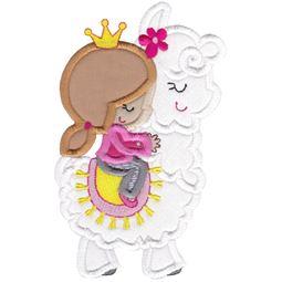 Love My Llama Applique 10