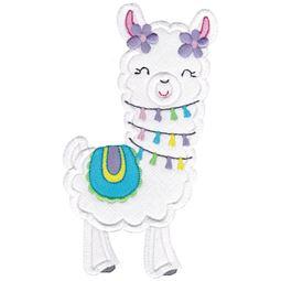 Love My Llama Applique 13