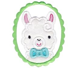 Love My Llama Applique 14