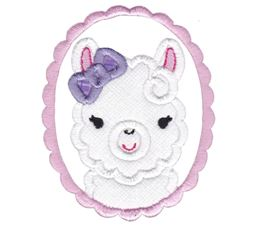 Love My Llama Applique 5