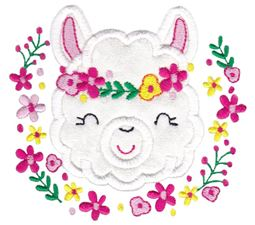 Love My Llama Applique 6