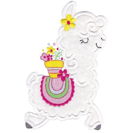 Love My Llama Applique 8