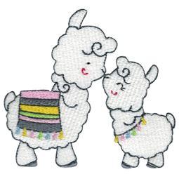 Mother and Baby Llamas