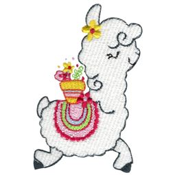 Prancing Flower Llama