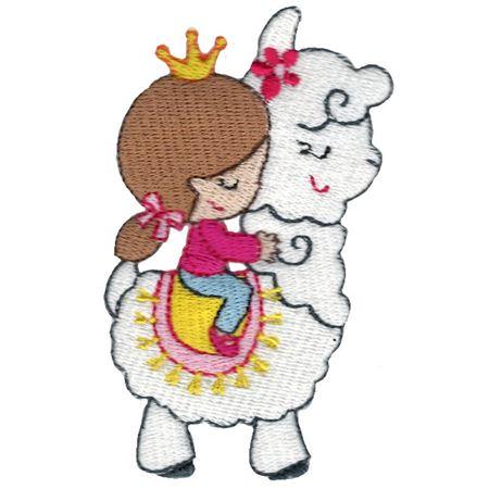 Girl Riding Llama