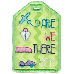 Are We There Yet Luggage Tag