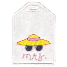Mrs With Sunhat Luggage Tag
