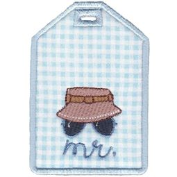 Mr With Bucket Hat Luggage Tag