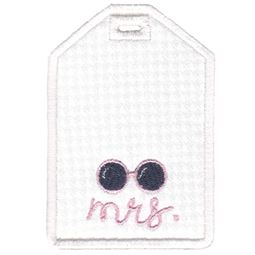 Mrs With Sunglasses Luggage Tag