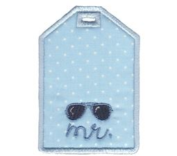 Mr With Sunglasses Luggage Tag