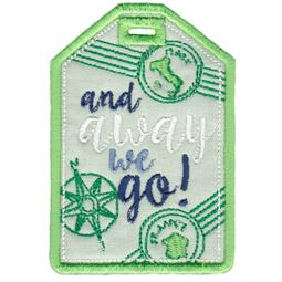 And Away We Go Luggage Tag