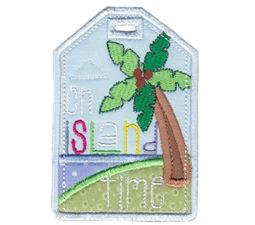 On Island Time Luggage Tag