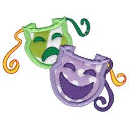 Applique Theater Masks