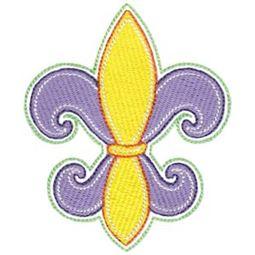 Filled Stitch Fleur De Lis
