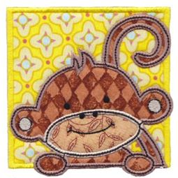 Monkey Friends Applique Blocks 5