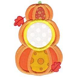 Stack of Pumpkins Monogram Applique