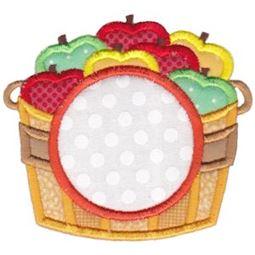Barrel of Apples Monogram Applique