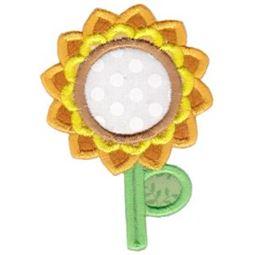 Sunflower Monogram Applique