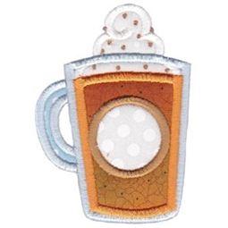 Pumpkin Spice Latte Monogram Applique
