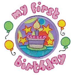 First Birthday Applique