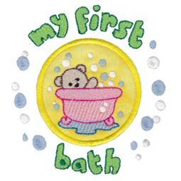 First Bath Applique