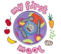 First Meal Applique