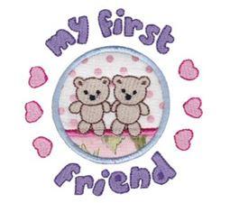 First Friend Applique