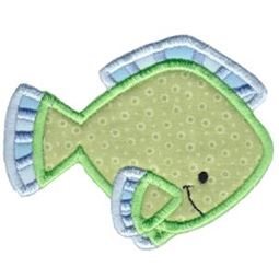 Ocean Green Fish Applique
