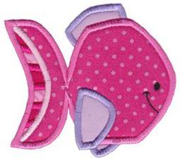 Ocean Pink Fish Applique