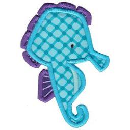 Ocean Seahorse Applique