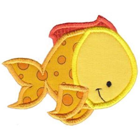 Ocean Yellow Fish Applique