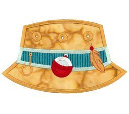 Fishing Bucket Hat Applique
