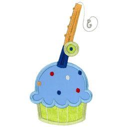Fishing Cupcake Applique