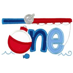 One Fishing Rod Applique