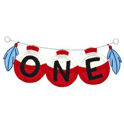 One On Fishing Line Applique
