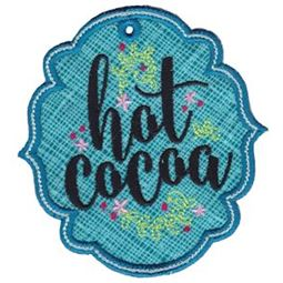 Hot Cocoa ITH Pantry Label
