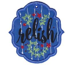 Relish ITH Pantry Label