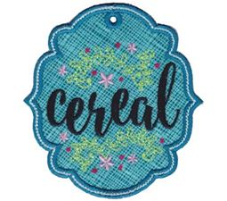 Cereal ITH Pantry Label