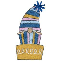 Gnome Peeking Out Of Birthday Cake