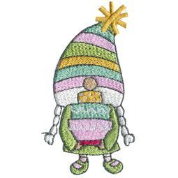Girl Gnome Holding Birthday Cake